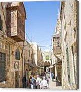 Old Town Street In Jerusalem Israel Acrylic Print