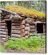Old Traditional Log Cabin Rotting In Yukon Taiga Acrylic Print