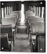 Old Train Seats Acrylic Print