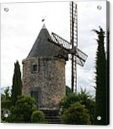 Old Provencal Windmill Acrylic Print