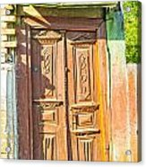 Old Wooden Door Acrylic Print