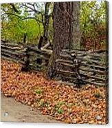 Old Wooden Fence Acrylic Print
