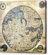 Old World Vintage Map Acrylic Print