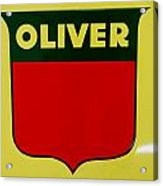 Oliver Sign Acrylic Print