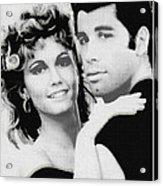 Olivia Newton John And John Travolta In Grease Collage Acrylic Print