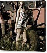 On The Farm At Dusk Acrylic Print