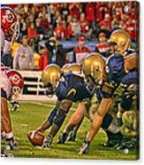 On The Goal Line - Notre Dame Vs Utah Acrylic Print