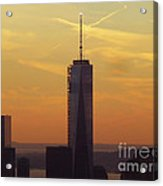 One Wtc From Top Of The Rock Acrylic Print