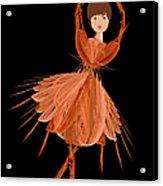1 Orange Ballerina Acrylic Print