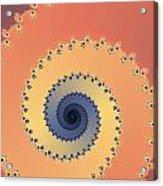 Orange Fractal Acrylic Print