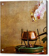 Orchid And Copper Fondue Acrylic Print