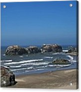 Oregon Beach And Rocks Acrylic Print