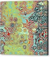 Organic Optical Illusion 5 Acrylic Print by The Art of Marsha Charlebois