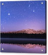 Orion Over Lake Annette Acrylic Print