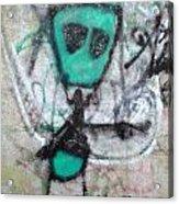 Other People's Art - Graffiti On The Berkeley Pier Acrylic Print