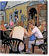 Outside Seating Acrylic Print