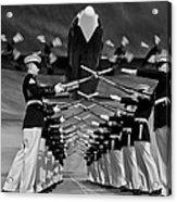 Over The Marine Corps Silent Drill Platoon Acrylic Print