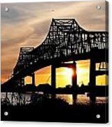 Over The Mississippi Acrylic Print