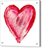 Painted Heart - Symbol Of Love Acrylic Print