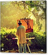 Within The Painting Acrylic Print