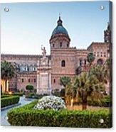 Palermo Cathedral At Dusk, Sicily Italy Acrylic Print