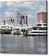 Palm Beach Docks Acrylic Print