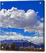 Palm Desert Clouds Acrylic Print