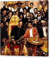 Pancho Villa In Presidential Chair And Emiliano Zapata Palacio Nacional Mexico City December 6 1914 Acrylic Print