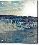 Panorama - Niagara Falls In Winter Acrylic Print