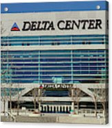 Panoramic Of Delta Center Building Acrylic Print