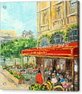 Paris Cafe Acrylic Print