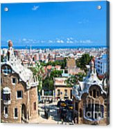 Park Guell In Barcelona Acrylic Print