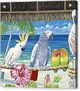 Parrots In Paradise Acrylic Print