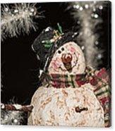 Partyin' Snowman Acrylic Print