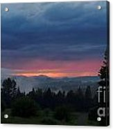 Passing Summer Shower Acrylic Print by Steven Valkenberg