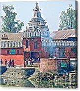 Pasupatinath Temple Of Cremation Complex In Kathmandu-nepal- Acrylic Print