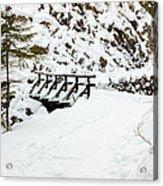 Pathway Through The Snow Acrylic Print