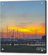 Patriots Point Sunset Acrylic Print