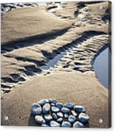 Pebble Beach Heart Acrylic Print