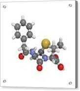Penicillin G Molecule Acrylic Print