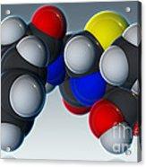 Penicillin V Molecular Model Acrylic Print