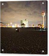 Pensacola Beach At Night Acrylic Print