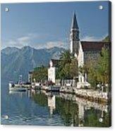 Perast Village On Kotor Bay Montenegro  Acrylic Print