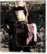 Person On A Vintage Vacation Acrylic Print