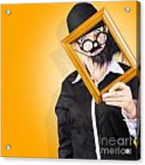 Person Setting Their Social Media Profile Picture Acrylic Print