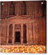 Petra By Night Acrylic Print