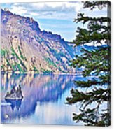 Phantom Ship Overlook In Crater Lake National Park-oregon Acrylic Print