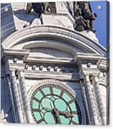 Philadelphia City Hall Clock Acrylic Print