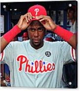 Philadelphia Phillies V Atlanta Braves Acrylic Print