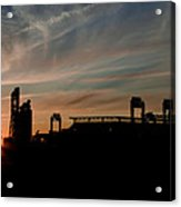 Phillies Stadium At Dawn Acrylic Print by Bill Cannon